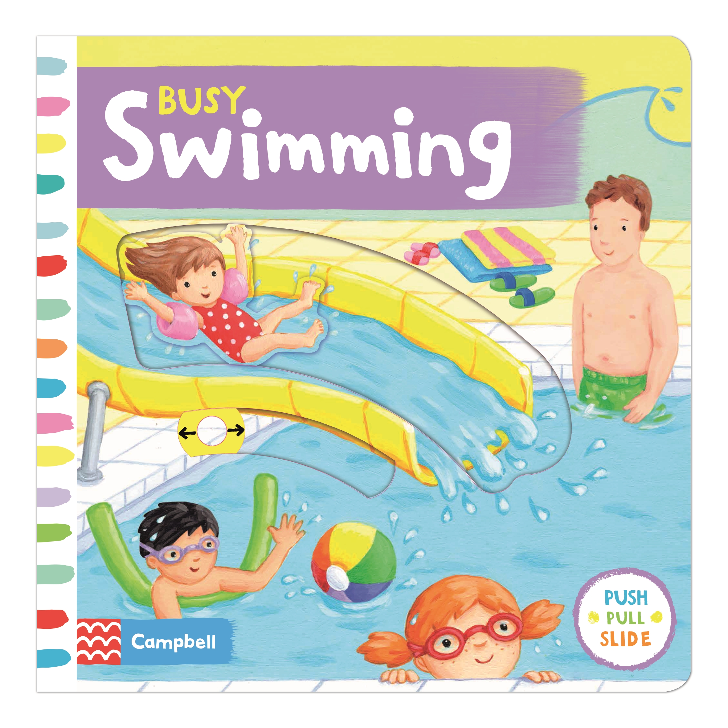 Busy Swimming: Push, pull and slide the scenes to bring the swimming pool to life! (Busy Books)