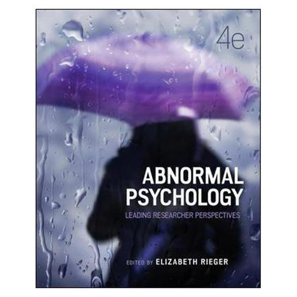 Abnormal Psychology (4th Edition)