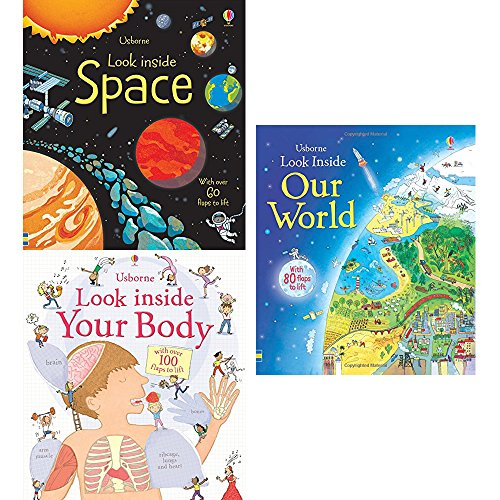 Usborne Look Inside Collection 3 Books Bundle (Space,Your Body,Our World)