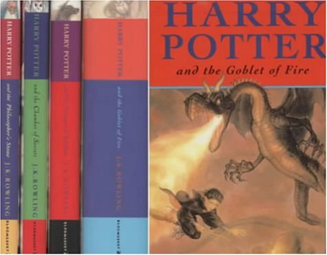 Harry Potter four volume hardcover boxed set