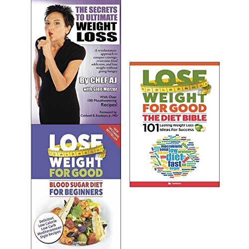 Secrets to ultimate weight loss, lose weight for good blood sugar diet and the diet bible 3 books collection set by Glen Merzer Chef AJ, ISBN: 9789123667611