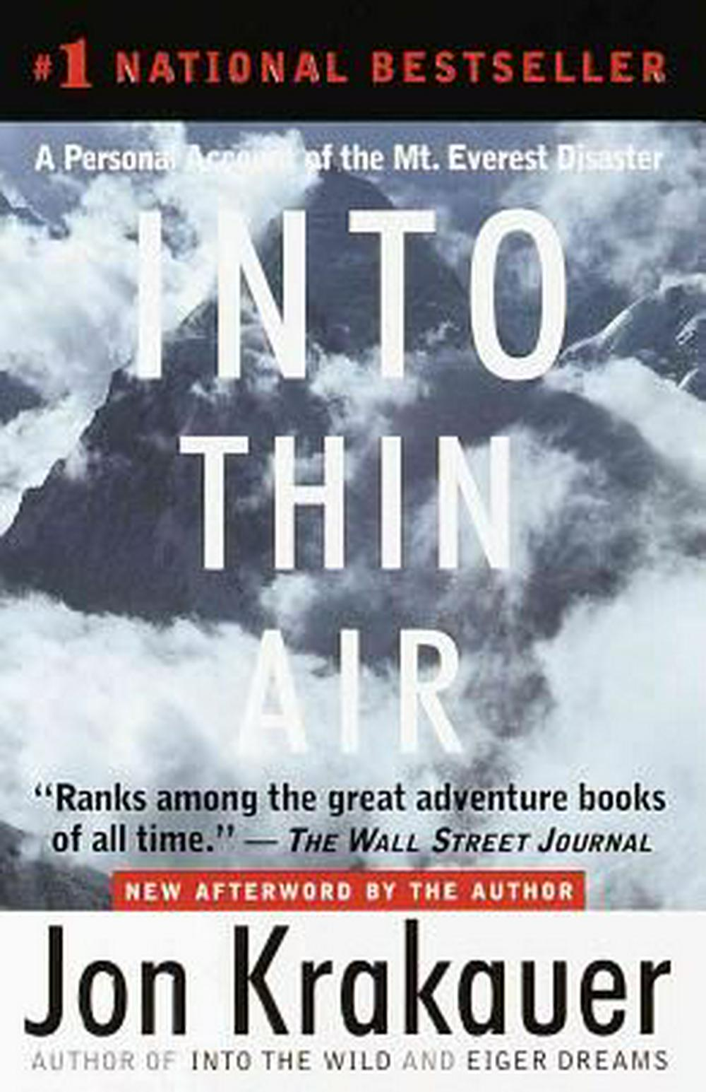 into the wild jon krakauer thesis Download thesis statement on into the wild by jon krakauer in our database or order an original thesis paper that will be written by one of our staff writers and delivered according to.