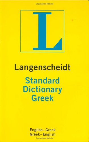 Langenscheidt's Standard Greek Dictionary Thumb Indexed