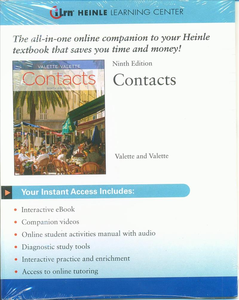 iLrn  Heinle Learning Center Printed Access Card for Valette/Valette's  Contacts: Langue et culture fran‡aises, 9th