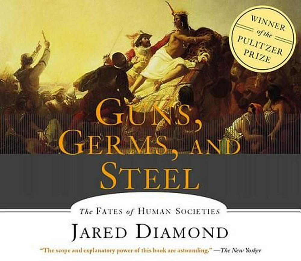 history as told from the hands of fate in guns germs and steel by jared diamond Guns, germs, and steel presents a very important argument that geography plays a critical role in the course of human social and economic development to the extent that geography is important, it excludes alternate explanations that may be religious, racist, or nihilistic.