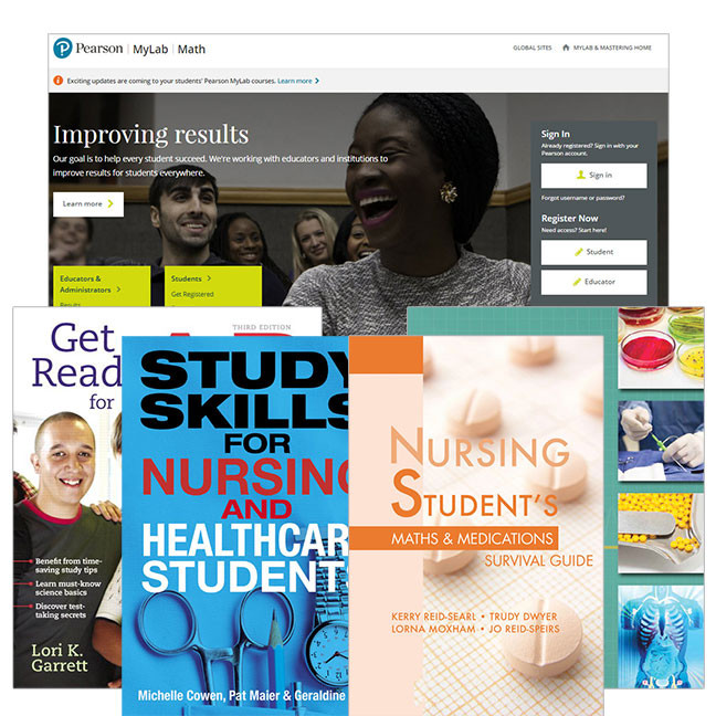 Valuepack Anatomy, Physiology & Disease + Get Ready for A &P + Math &Meds Handbook + Study Skills Handbook Nursing Skills + Numeracy in Nursing MyMathLabGlobal