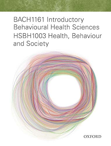 BACH1161 Intro Behavioural Health Sci HSBH1003 Health, Behaviour & Society