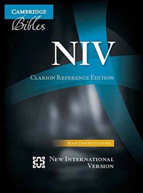 NIV Clarion Reference Bible, Black Calf Split Leather, Ni484: X