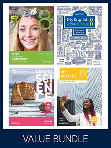 Oxford Vicpack 8 Student Books + Obook AssessThis Value Pack Includes: Myenglish 8, Mymaths ...
