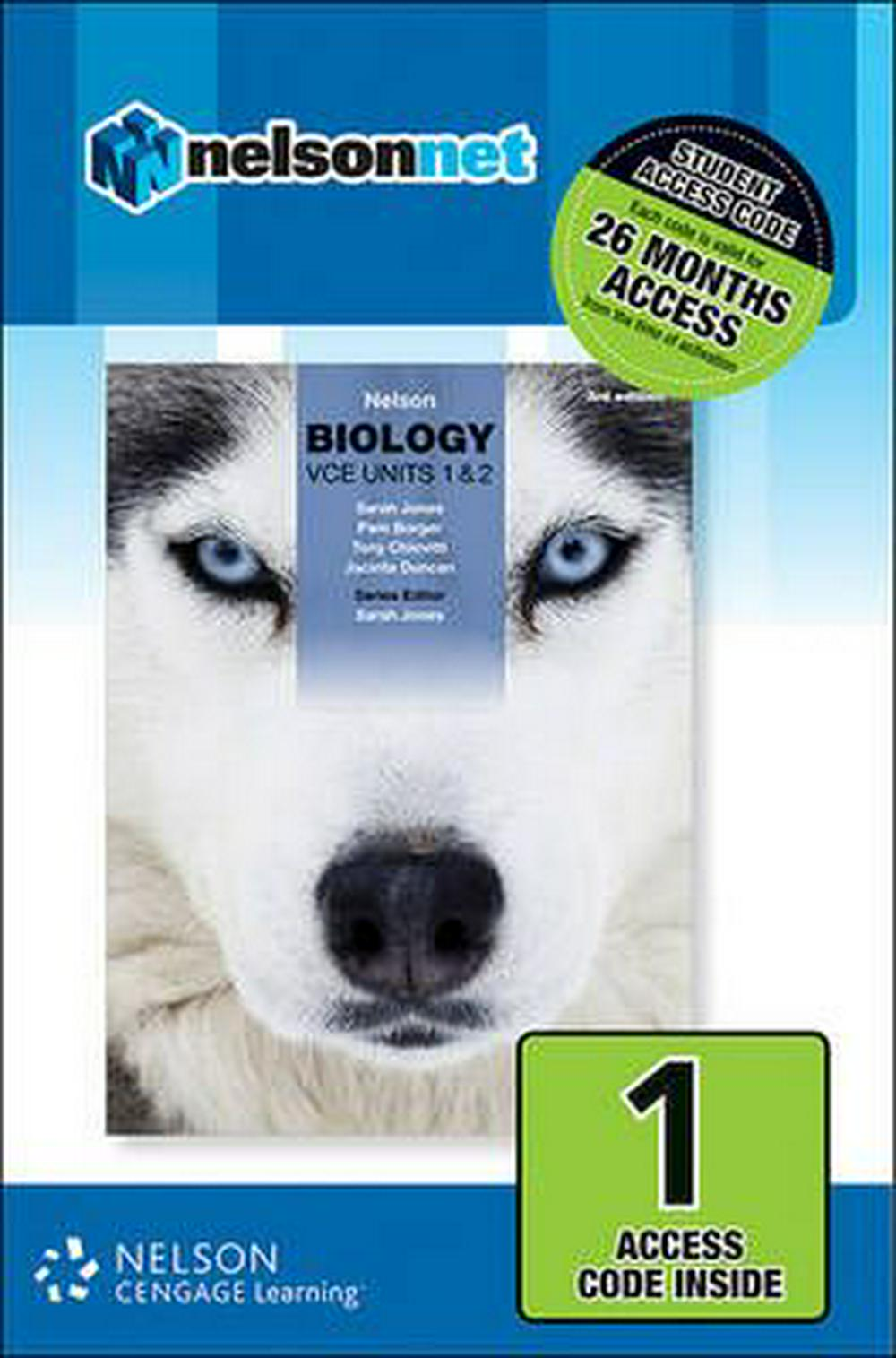 Nelson Biology Vce Units 1 & 2 1-Code Access Card