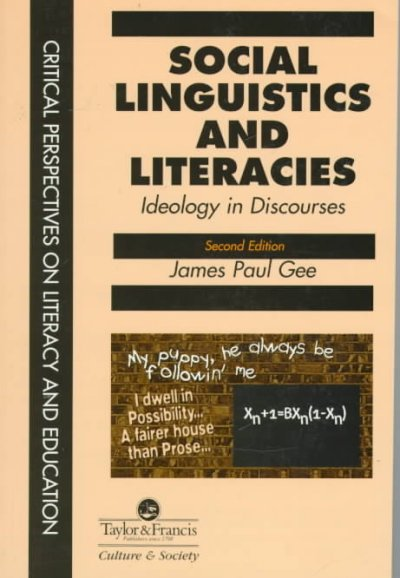 understanding language in literacy discourse and linguistics by james paul gee The essential james gee: an introduction to discourse analysis is a freebook brought to you by in its first edition, social linguistics and literacies was a major contribution to the emerging in language and learning in the digital age, linguist james paul gee and educator elisabeth hayes.