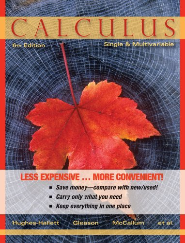 Calculus Single and Multivariable 6E Binder Ready Version + WileyPlus Registration Card