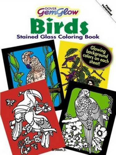Birds Stained Glass Coloring Book