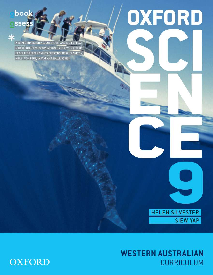 Oxford Science 9 Western Australia  Curriculum Student Book + Obook/Assess