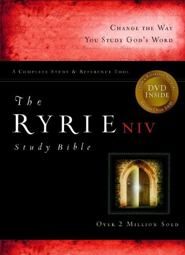 The Ryrie NIV Study Bible Genuine Leather Burgundy- Red Letter