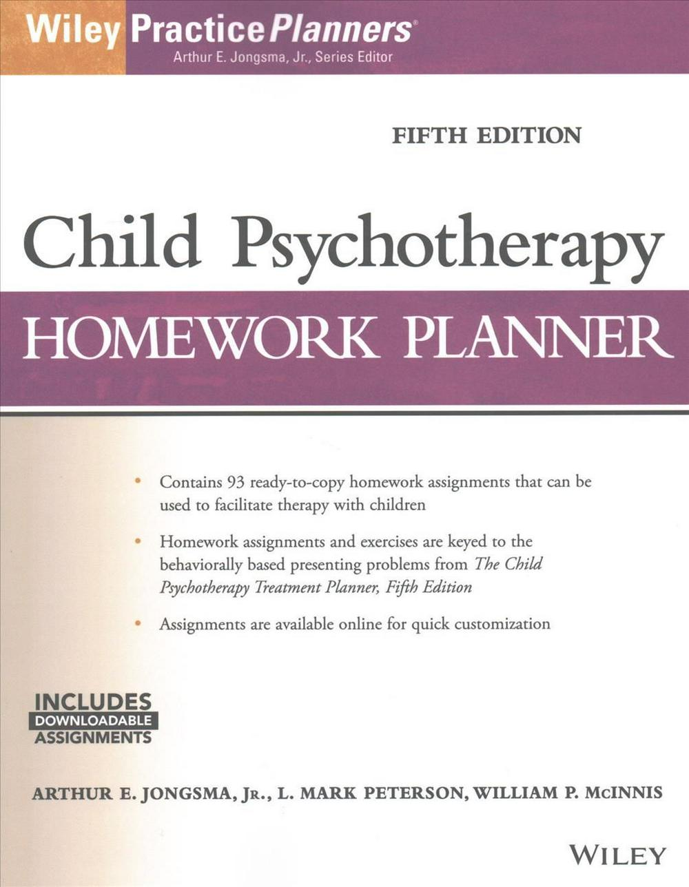 Child Psychotherapy Homework Planner, Fifth EditionPracticePlanners