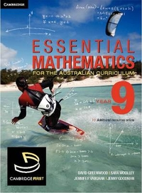 Essential Mathematics for the Australian Curriculum Year 9 by David Greenwood, ISBN: 9780521178655
