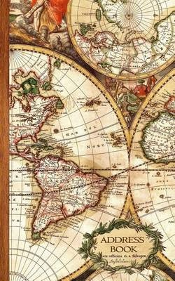 address book antique map gifts presents small telephone and address book address books travel world cultures