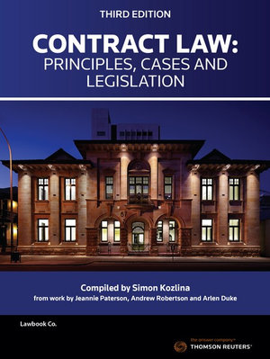Contract Law: Principles, Cases & Leg by Kozlina, ISBN: 9780455240640