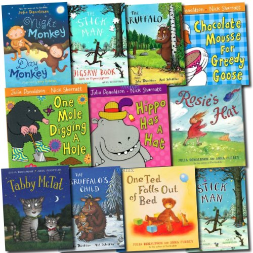 Julia Donaldson Gruffalo Activity Collection 11 Books Set (The Gruffalo, The Colouring book, One Mole Digging A Hole, Hippo Has A Hat, The Smartest Giant in Town, Room on the Broom, The Snail and the Whale) by Julia Donaldson, ISBN: 9780230744042