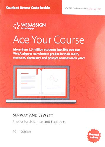 WebAssign Printed Access Card for Serway/Jewett's Physics for Scientists and Engineers, 10th, Single-Term