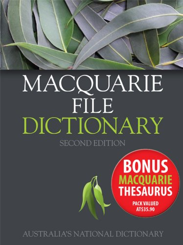 Macquarie File Dictionary 2E + Macquarie File Thesaurus Value Pack by Macquarie, ISBN: 9780730341086