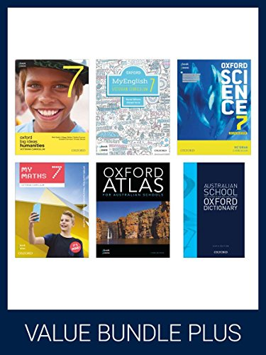Oxford Vicpack 7 Plus Student Books + Obook Assess + Atlas + Aust DictionaryThis Value Pack Includes: Myenglish 7, Mymaths ...