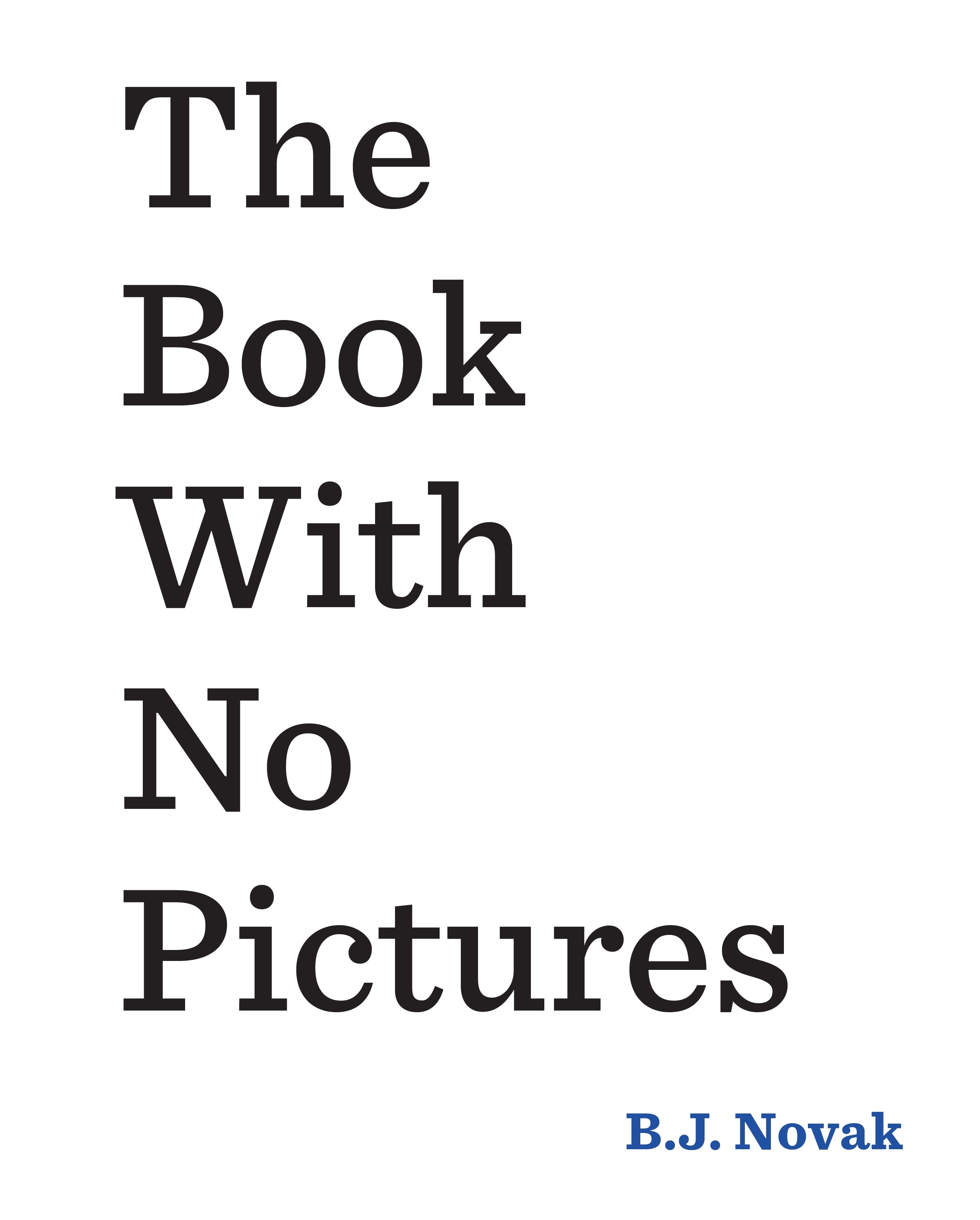 Book With No Pictures the