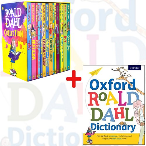 roald dahl collection : 15 books box set plus oxford roald dahl dictionary by Roald Dahl, ISBN: 9789123607532