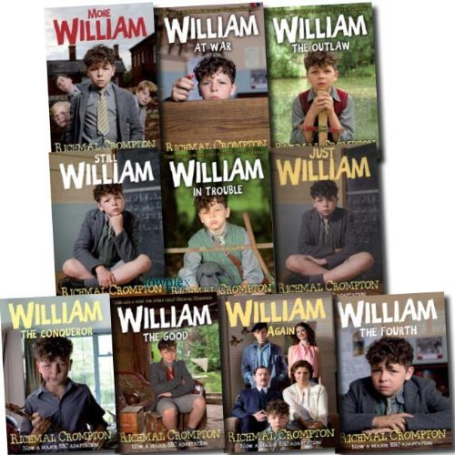 Just William Series Richmal Crompton 10 Books Set Collection (Just William, More William, William Again, William The Fourth, Still William, William Conqueror, William the Outlaw, William the.. in Trouble, William the Good, William at War) (TV tie-in Editi