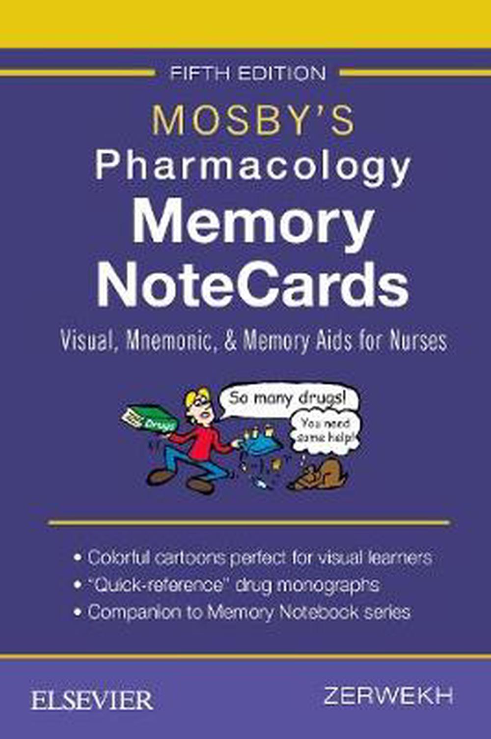 Mosby's Pharmacology Memory NoteCards: Visual, Mnemonic, and Memory Aids for Nurses, 5e