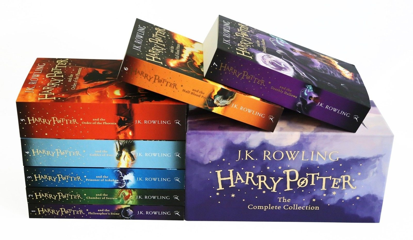Harry Potter Signature Edition Paperback Boxed Set x 7 by J.K. Rowling, ISBN: 9781408812525