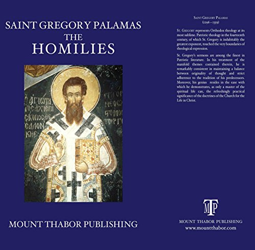 Saint Gregory Palamas: The Homilies by Christopher Veniamin, Saint Gregory Palamas, ISBN: 9780977498345