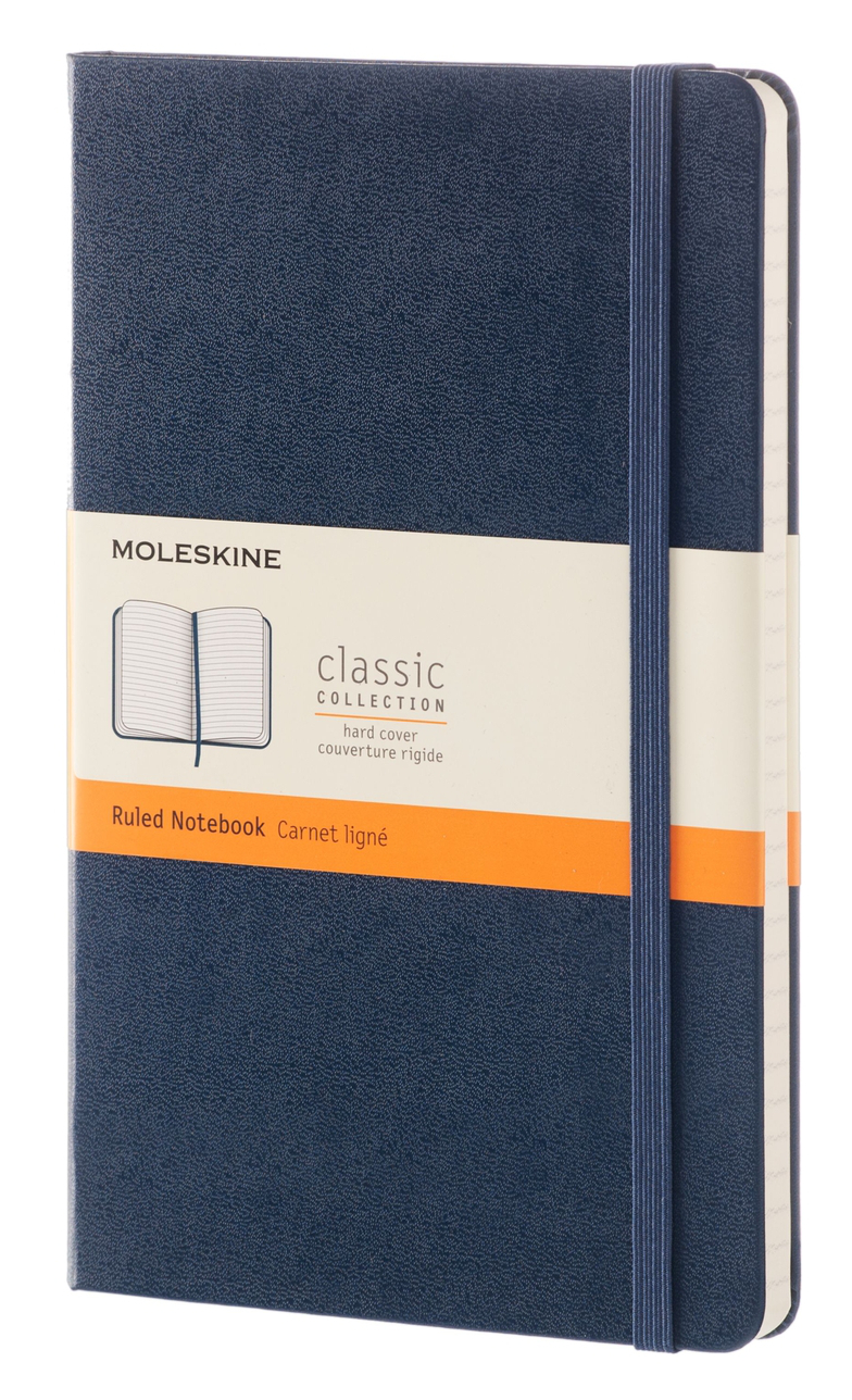Moleskine Sapphire Blue Large Ruled Note