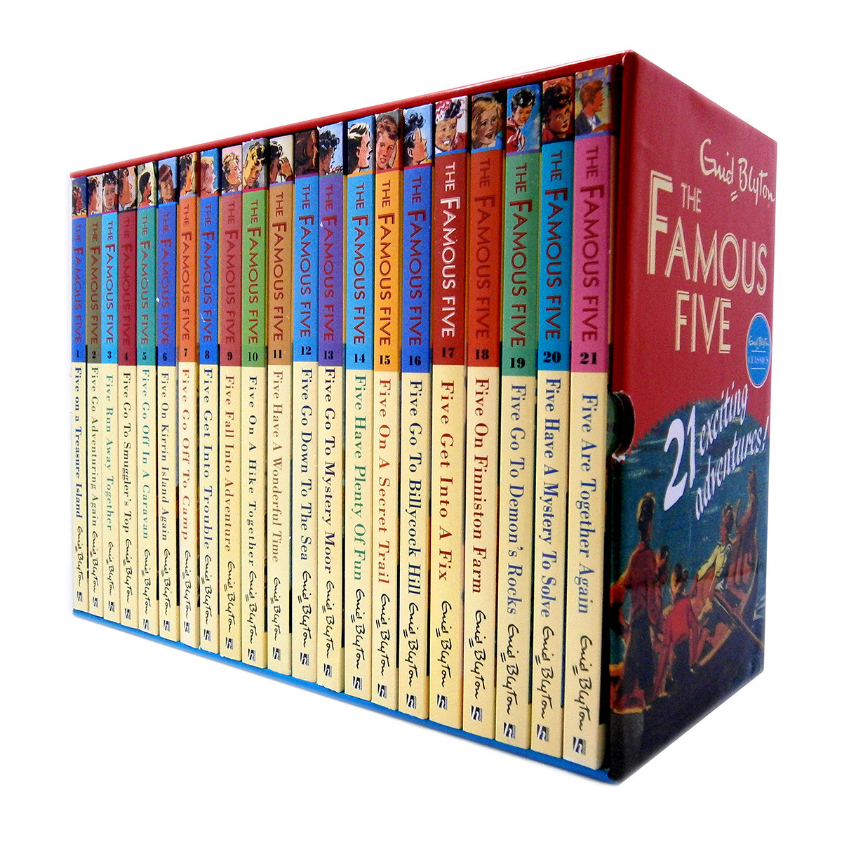 Enid Blyton Famous Five Series, 21 Books Box Collection Pack Set by Enid Blyton, ISBN: 9781444931013