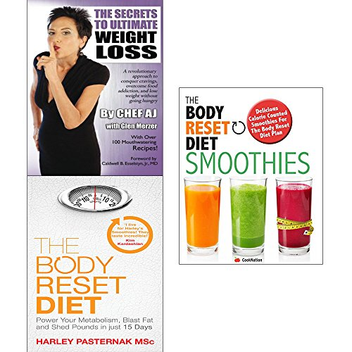 Secrets to ultimate weight loss, body reset diet and smoothies 3 books collection set by Glen Merzer Chef AJ, ISBN: 9789123667642