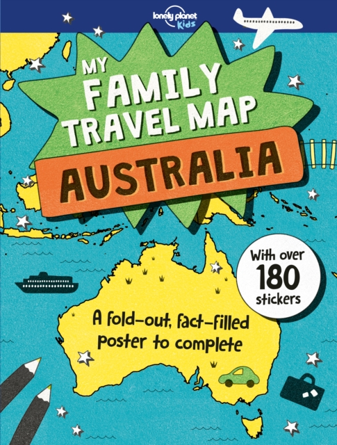 family travel map australia my lonely planet kids by lonely planet kids