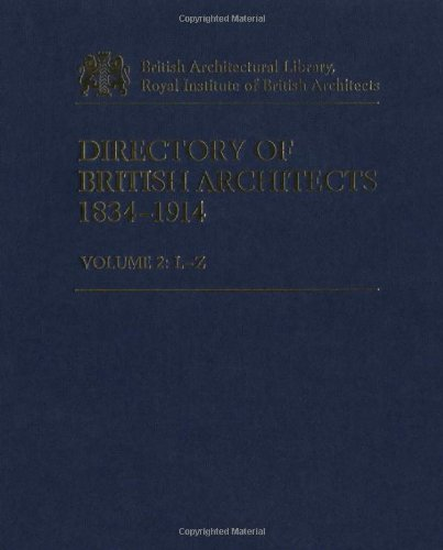 Directory of British Architects 1834-1914 Vol 2: 2 by Riba, ISBN: 9780826455147