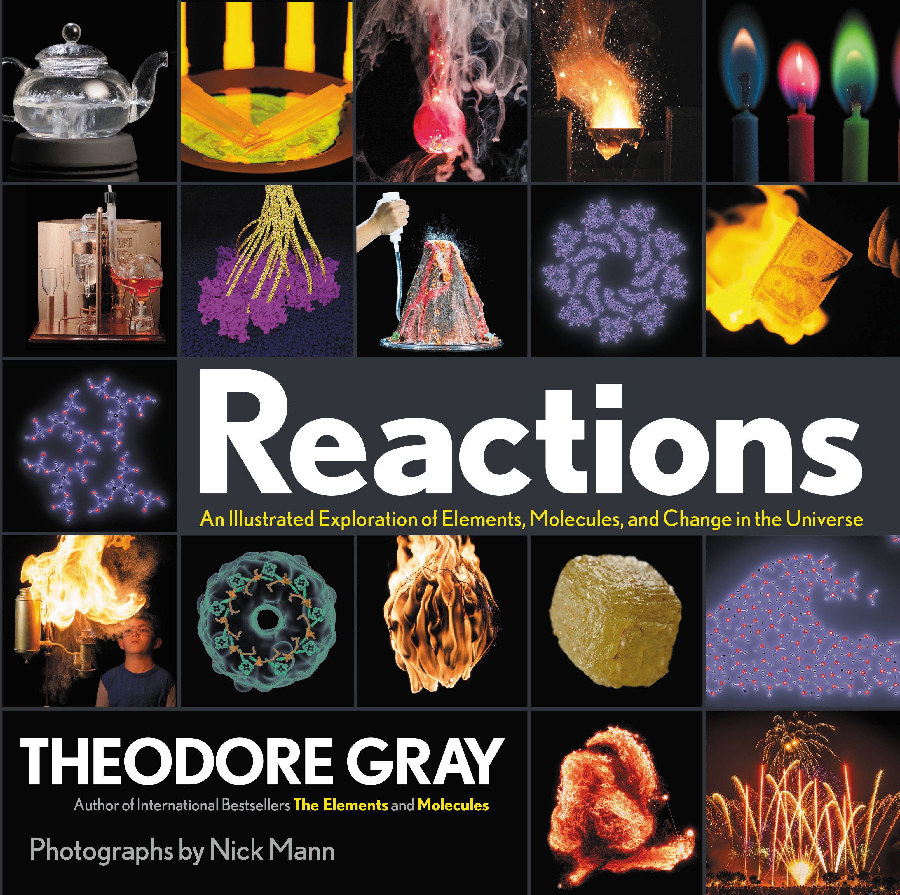 Reactions: An Illustrated Exploration of Elements, Molecules, and Change in the Universe by Theodore Gray, ISBN: 9780316391221