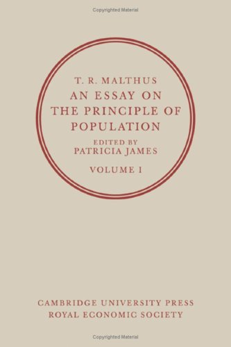 An Essay on the Principle of Population: Volume 1 by T. R. Malthus, ISBN: 9780521323604
