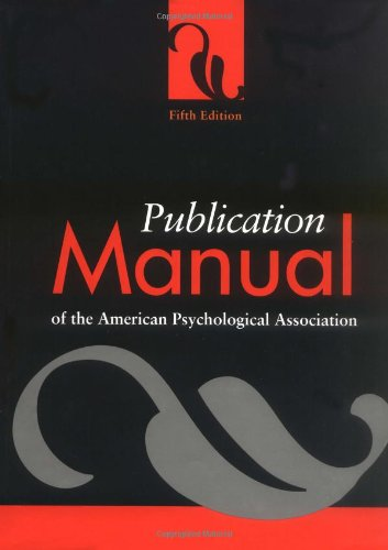 Publication Manual of the American Pyschological Association