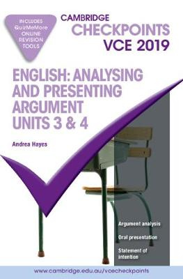 Cambridge Checkpoints VCE English: Analysing and Presenting Arguments Units 3 and 4 2019 and QuizMeMore