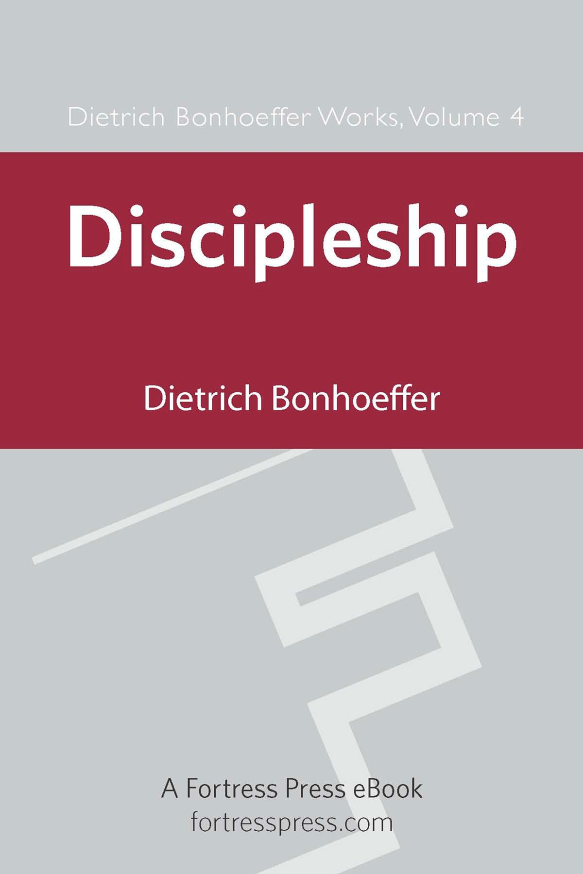 """the cost of discipleship bonhoeffer dietrich This was known as """"costly grace,"""" bonhoeffer spoke against the """"cheap"""" grace  within the church his classic statement is found in the cost of discipleship:."""