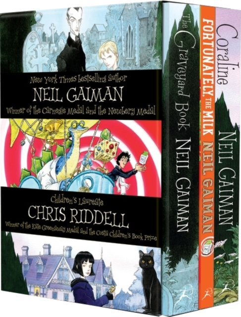 Neil Gaiman & Chris Riddell x3 Box Set