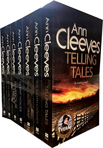 Ann Cleeves TV Vera Series Collection 6 Books Set (Telling Tales, Harbour Street, Silent Voices, Hidden Depths, The Glass Room, The Crow Trap) by Ann Cleeves, ISBN: 9788033655244