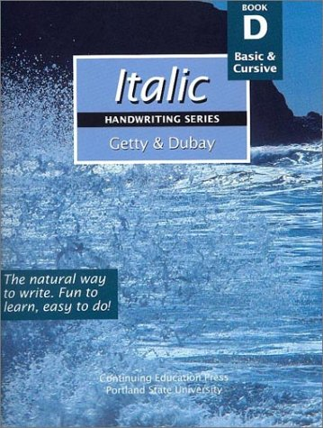 Italic Handwriting Book D by J Getty, ISBN: 9780876780954