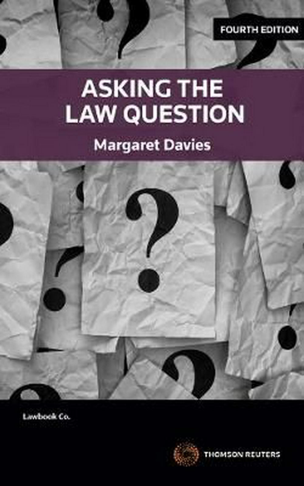 Asking the Law Question by Margaret Davies, ISBN: 9780455238067