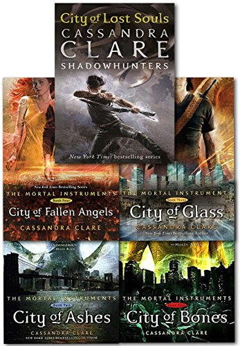 Cassandra Clare Mortal Instruments 5 Books Collection Pack Set RRP: £42.95 (City of Bones Book 1, City of Ashes Book 2, City of Glass Book 3, City of Fallen Angels Book 4, City of Lost Souls Book 5) by Cassandra Clare, ISBN: 9781406351521