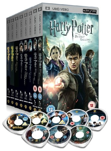 The Harry Potter 1 - 8 Complete Sony PSP UMD Movie Collection: Philosphers Stone, Chamber of Secrets, Goblet of Fire, Prisoner of Azkaban, Order of the Phoenix, Half Blood Prince, Deathly Hallows Part 1, Deathly Hallows Part 2 + Extras + Featurettes etc