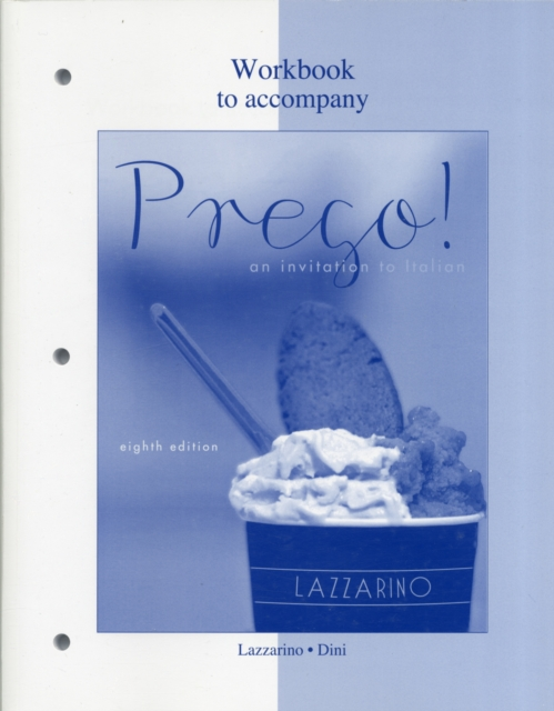 Workbook for Prego! by Graziana Lazzarino, ISBN: 9780077382513